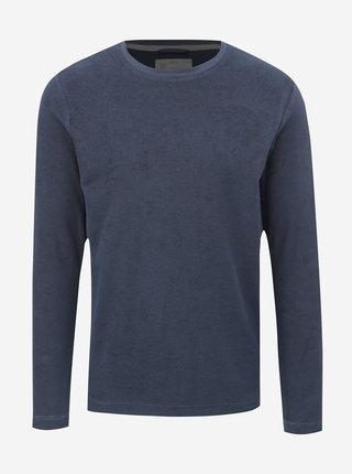 Tmavě modré froté tričko Dstrezzed Crew