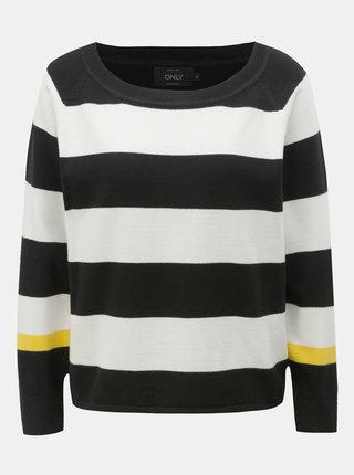 Bílo-černý pruhovaný svetr ONLY Mette
