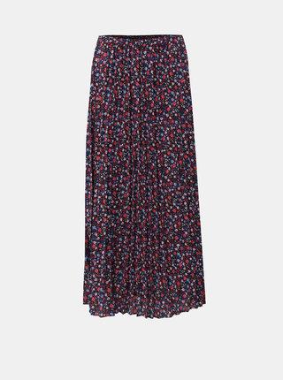 Modro–ružová plisovaná kvetovaná maxisukňa ONLY Phoebe