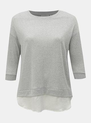 Svetlosivý tenký sveter s košeľovou vsadkou ONLY CARMACOMA Lyncis
