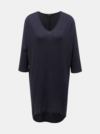 Tmavě modré dlouhé basic tričko VERO MODA Paya