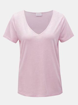 Ružové basic tričko VILA Noel
