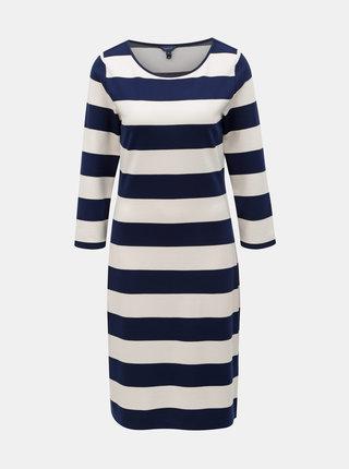Bílo-modré pruhované basic šaty GANT