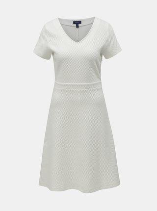 Krémové šaty s krátkým rukávem GANT
