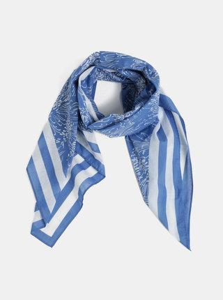 Bílo-modrý dámský vzorovaný šátek GANT