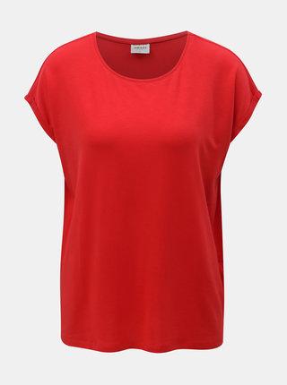 Červené volné basic tričko VERO MODA AWARE Mava