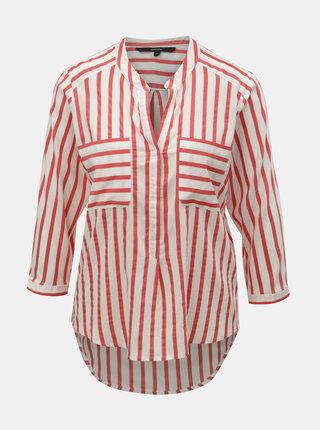 Bluza rosu-alb in dungi cu buzunare VERO MODA Erika