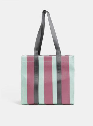 Růžovo-mentolová kabelka Pieces Briannah