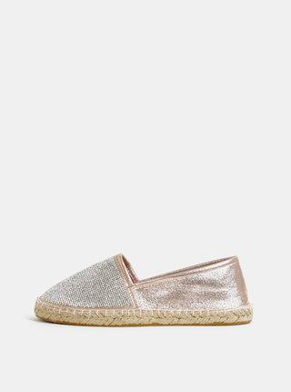 Espadrile roz-auriu si argintiu Dorothy Perkins