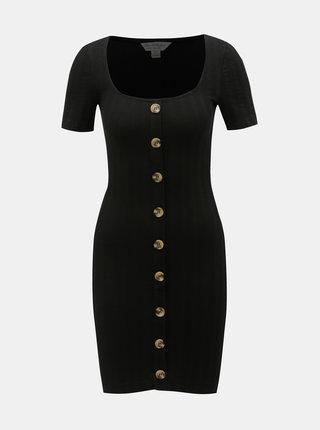Černé pouzdrové šaty Miss Selfridge
