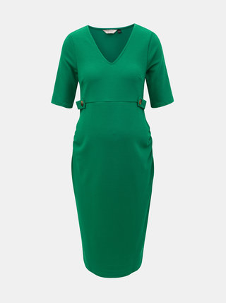 Zelené tehotenské šaty Dorothy Perkins Maternity