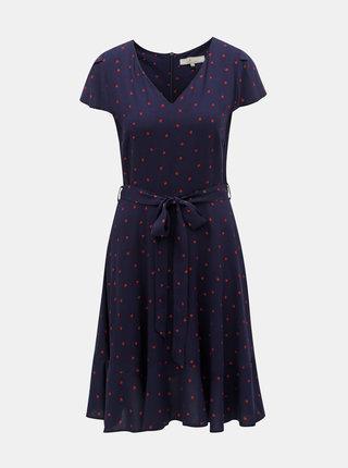 Tmavomodré šaty s motívom Billie & Blossom