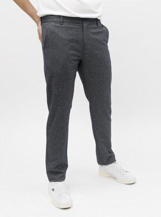 Pantaloni albastru inchis melanj chino Selected Homme Arval