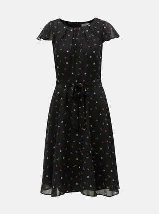 Čierne šaty s motívom Billie & Blossom