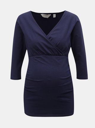 Tricou albastru inchis pentru femei insarcinate si pentru alaptat Dorothy Perkins Maternity