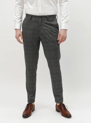 Šedé kostkované skinny kalhoty Selected Homme Jersey