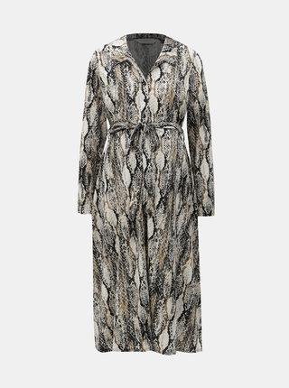 111932a7df0a6 Čierno–béžové tehotenské košeľové šaty s hadím vzorom Dorothy Perkins  Maternity