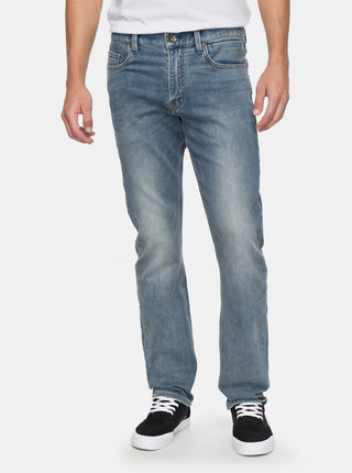 Blugi barbatesti albastri straight fit din denim Quiksilver