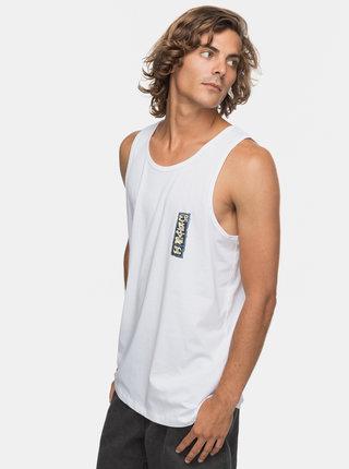 Biele pánske regular fit tielko s potlačou na chrbte Quiksilver