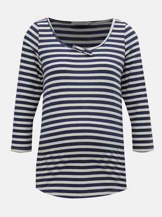 Bílo-modré pruhované těhotenské tričko Dorothy Perkins Maternity