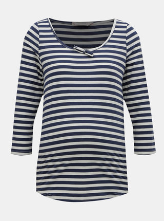 Bielo–modré tehotenské pruhované tričko Dorothy Perkins Maternity