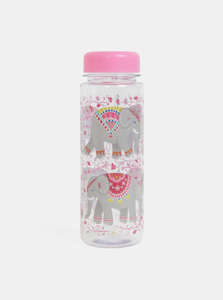 Sticla de apa roz cu motiv elefanti Sass&Belle Mandala Elephant