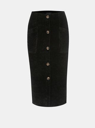 Čierna rebrovaná sukňa TALLY WEiJL Cojimi