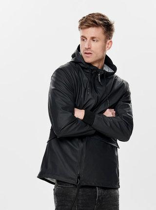 Čierna nepremokavá tenká bunda ONLY & SONS Aland