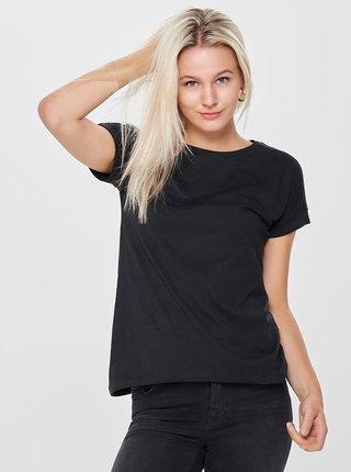 Čierne basic tričko Jacqueline de Yong Louisa
