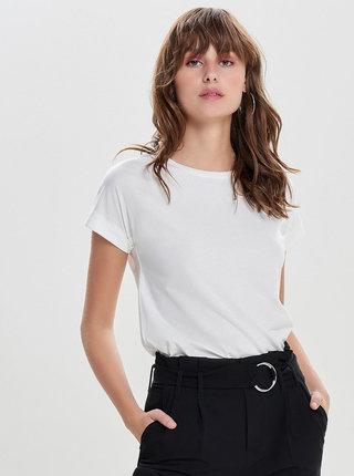 Krémové basic tričko Jacqueline de Yong Louisa