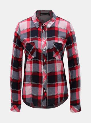 Černo-růžová kostkovaná košile TALLY WEiJL Caralas