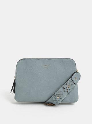 Modrá crossbody kabelka s ozdobným popruhom Bessie London