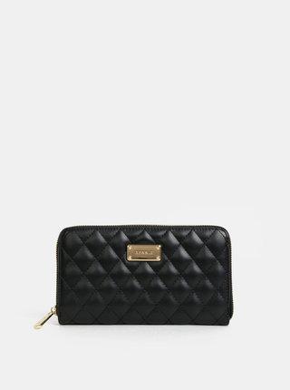 Čierna prešívaná veľká peňaženka Bessie London
