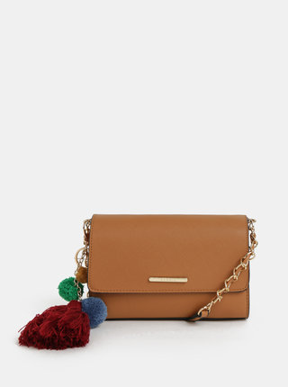 Hnedá crossbody kabelka so strapcom Bessie London