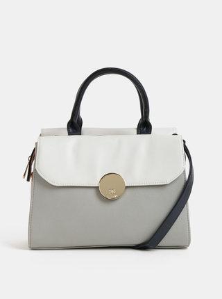 Krémovo–sivá kabelka Bessie London