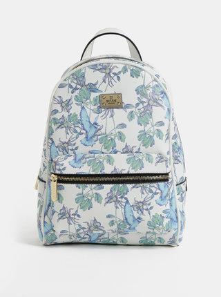 Biely kvetovaný batoh Bessie London