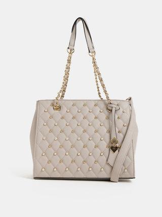 Béžová kabelka s ozdobnou aplikáciou Bessie London