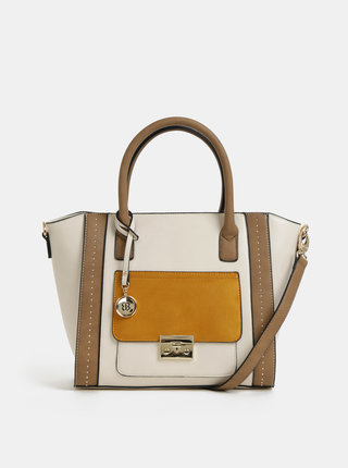 Horčicovo–krémová kabelka Bessie London