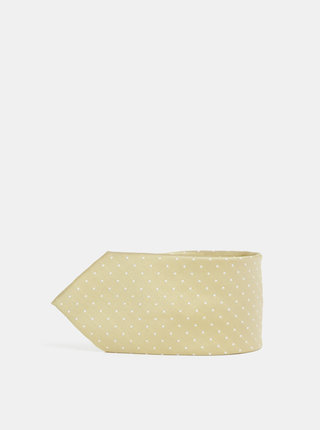 Bodkovaná kravata v zlatej farbe Jack & Jones Roth