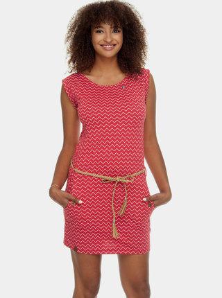 Červené vzorované šaty s kapsami Ragwear Tag