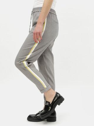 Pantaloni gri cu dungi pe laturi ONLY Roma