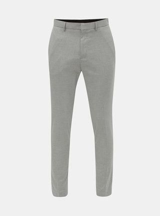 Šedé pruhované super skinny kalhoty Burton Menswear London