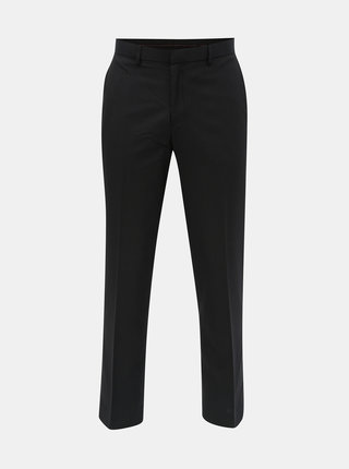 Pantaloni negri in dungi tailored fit Burton Menswear London