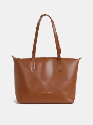 Hnedá kožená kabelka Smith & Canova Carmila