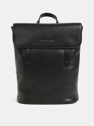 Čierny kožený batoh Smith & Canova Miza