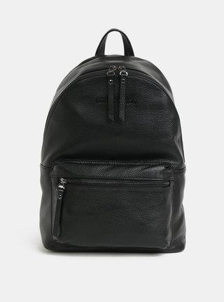 Čierny kožený batoh Smith & Canova Marnie