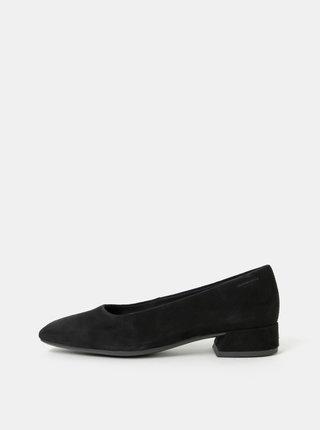 Pantofi negri din piele intoarsa cu toc mic Vagabond Joyce