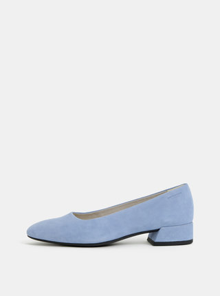 Modré semišové lodičky s nízkym podpätkom Vagabond Joyce