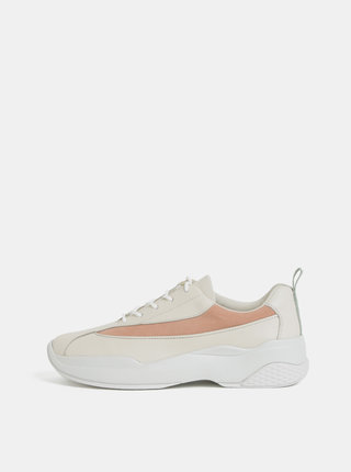 Pantofi sport crem de dama din piele Vagabond Lexy
