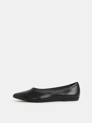 Černé kožené baleríny Vagabond Aya